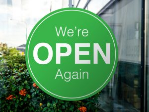 non-essential business reopen